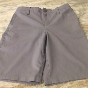 Boys quick dry Under Armour golf shorts. Gray